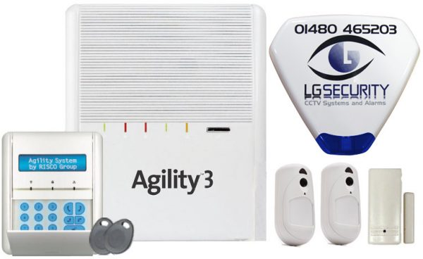 Home Burglar Alarm security package three